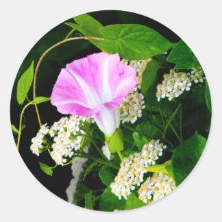 Floral Wedding Envelope Seal Sticker Large