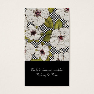 Floral Wedding Favor Gift Tags