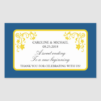 Floral Wedding Favor Sticker