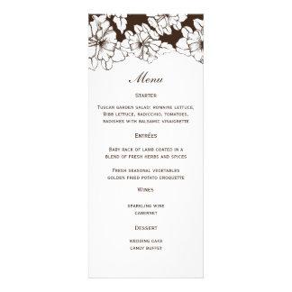 Floral Wedding Menu Personalized Invite