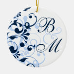 Floral Wedding or Anniversary Ornament