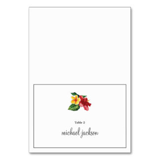Floral Wedding Place Card Table Card