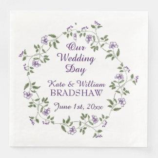 Floral Wedding Reception PAPER NAPKINS