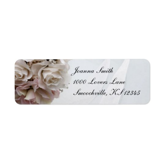 Floral Wedding Return Address Label
