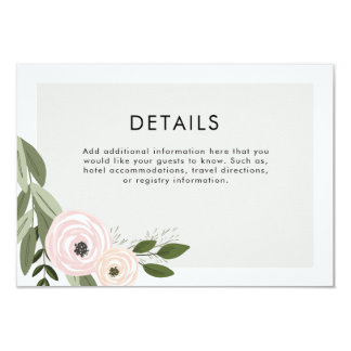 Floral Wedding Sprigs Details Card