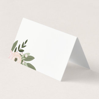 Floral Wedding Sprigs Place Cards