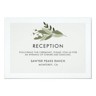 Floral Wedding Sprigs Reception Card