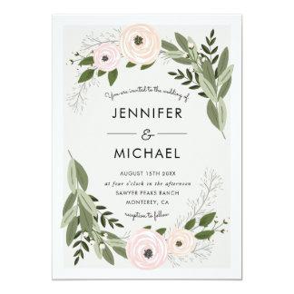 Floral Wedding Sprigs - Wedding Invite