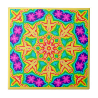Floral Wheel Ceramic Tile