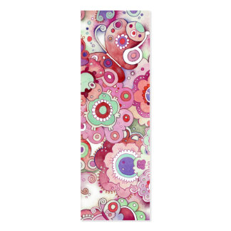 Floral Whimsy Bookmark Pack Of Skinny Business Cards