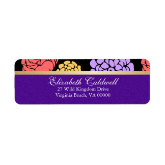 Floral  Whimsy Return Address Labels