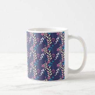 """Floral"" White 11 oz Classic White Mug"