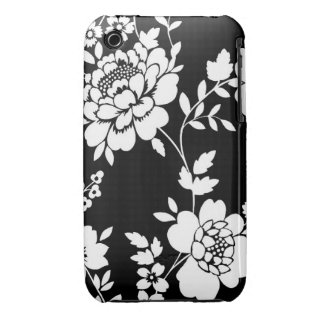 Floral white and black iPhone 4 case