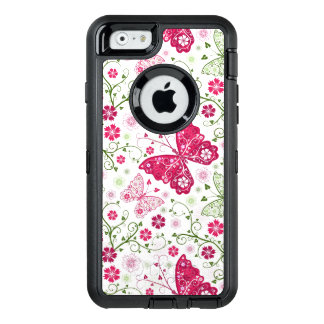 Floral White Pattern OtterBox iPhone 6/6s Case