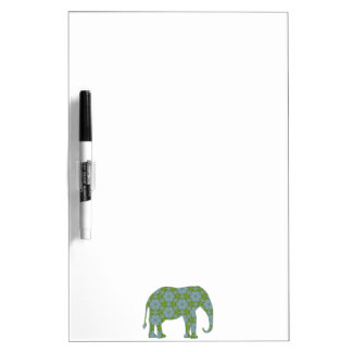 Floral Wild Elephant Dry Erase Board