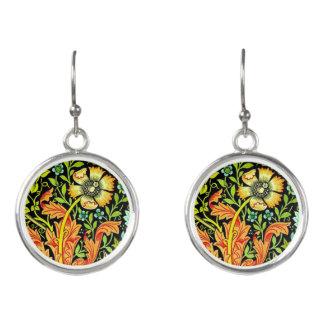 Floral William Morris Drop Earrings