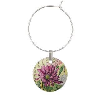 Floral Wine Charm