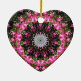 Floral Wisp - Heart Shaped Christmas Ornament