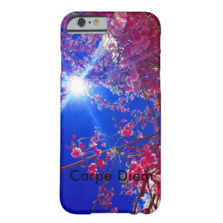 floral  with Carpe Diem reminder Barely There iPhone 6 Case