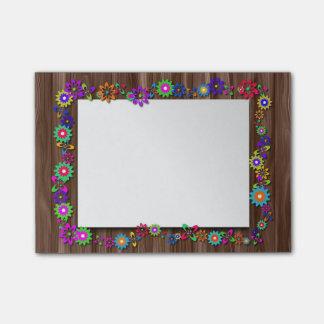 Floral Wooden Frame Post It Notes