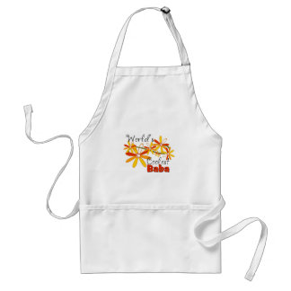 Floral World's Coolest Baba Adult Apron