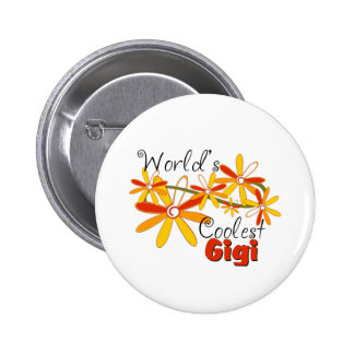 Floral World's Coolest Gigi 6 Cm Round Badge