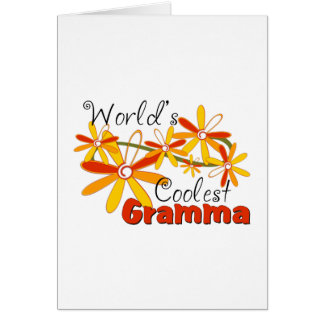 Floral World's Coolest Gramma Greeting Card