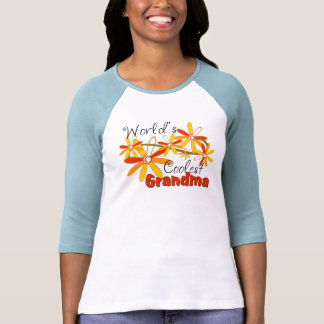 Floral World's Coolest Grandma Tee Shirts