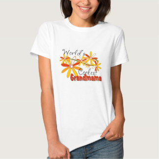 Floral World's Coolest Grandmama T-shirt