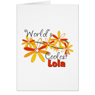 Floral World's Coolest Lola Greeting Card