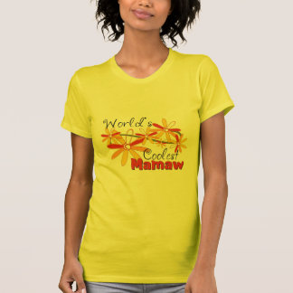 Floral World's Coolest Mamaw T Shirt