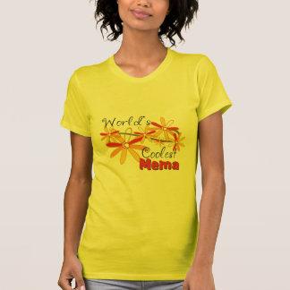 Floral World's Coolest Mema Shirt