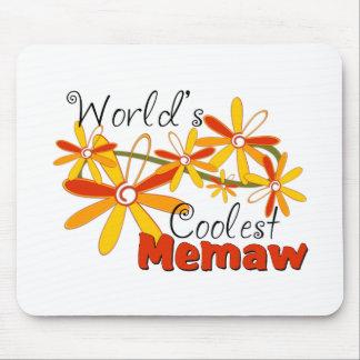 Floral World's Coolest Memaw Mouse Pad
