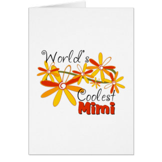 Floral World's Coolest Mimi Greeting Card