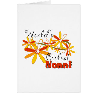 Floral World's Coolest Nonni Greeting Card