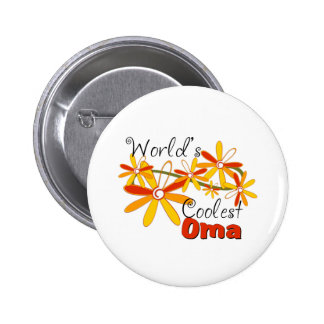 Floral World's Coolest Oma 6 Cm Round Badge