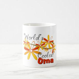 Floral World's Coolest Oma Basic White Mug