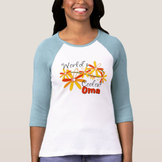Floral World's Coolest Oma Shirt