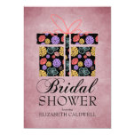 Floral Wrapped Gift Bridal Shower Invitation-rose