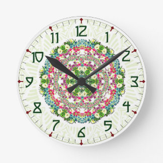 Floral Wreath Art Deco Clock
