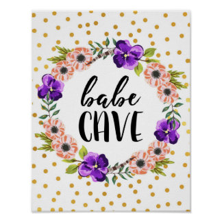 Floral Wreath Babe Cave Print