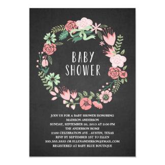 Floral Wreath | Baby Shower Invitation