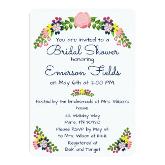 Floral Wreath Bridal Shower Invitation