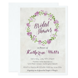 Floral Wreath Bridal Shower Invite
