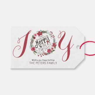 Floral Wreath Christmas | Gift Tags