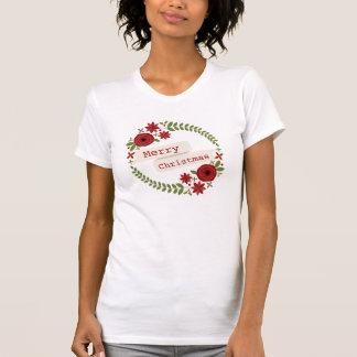Floral Wreath Christmas T Shirt