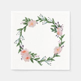 Floral Wreath Disposable Serviette