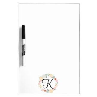Floral Wreath Dry Erase Board