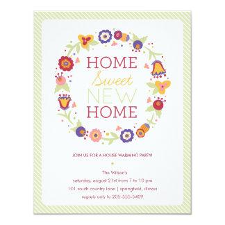 Floral Wreath House Warming Invitation