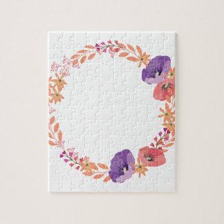 Floral wreath jigsaw puzzle